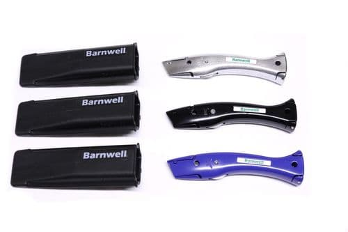 Barnwell Set of 3 Silver Black Blue Dolphin Knives